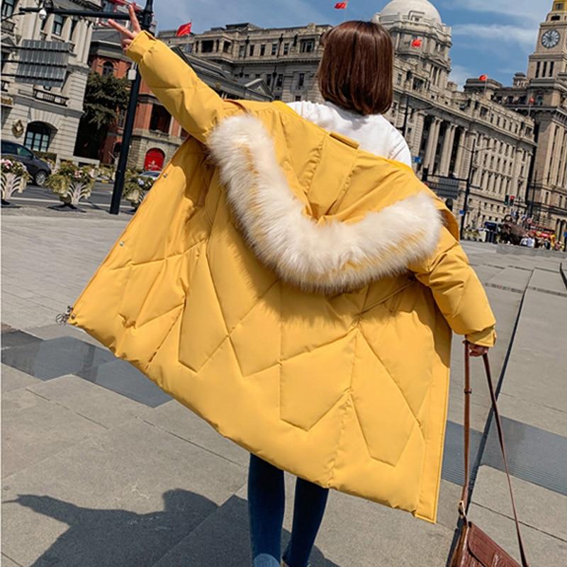 Fur Collar Long Womens Winter Jacket Coat Slim Jacket Women Warm Hooded Coat Parkas long 2019 New Winter Collection Hot Sale