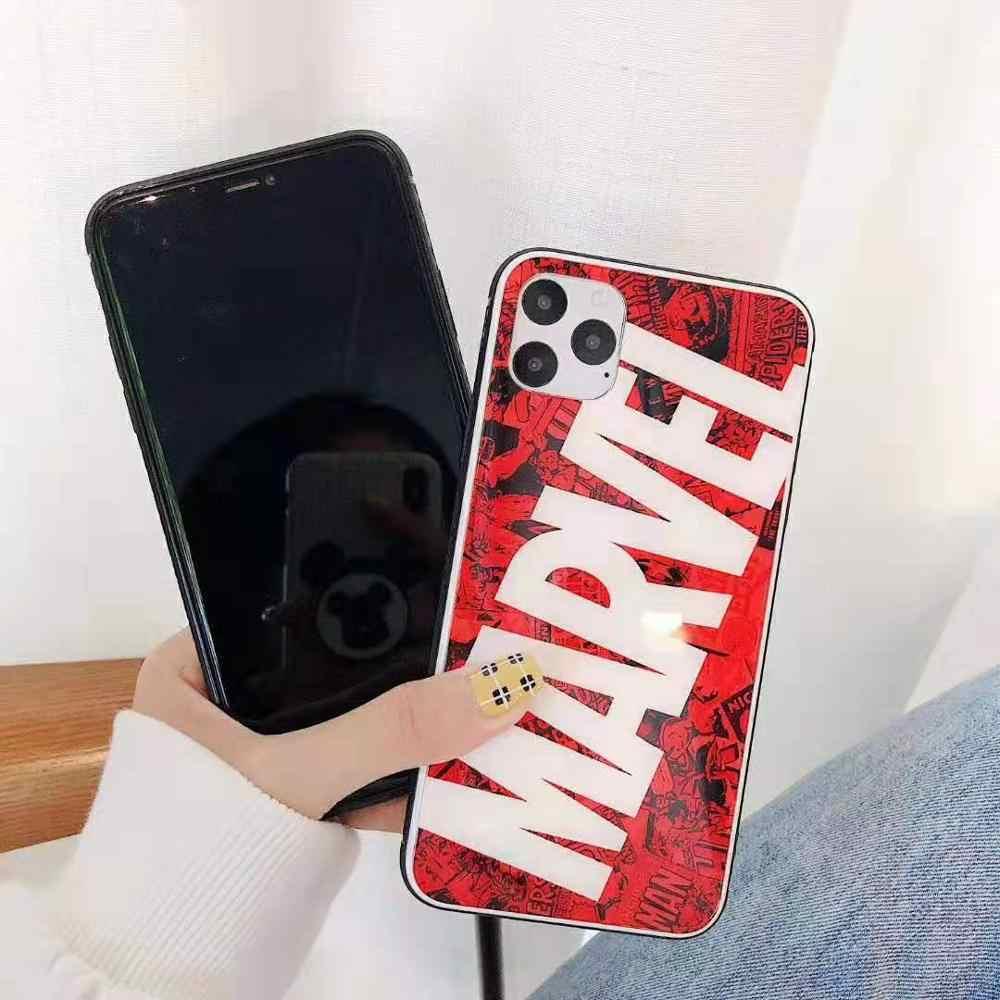 Классный чехол для телефона marvel для iphone 6 6s 7 8 plus x XS XR XS MAX чехол для телефона для iphone 11 PRO MAX fundas coque