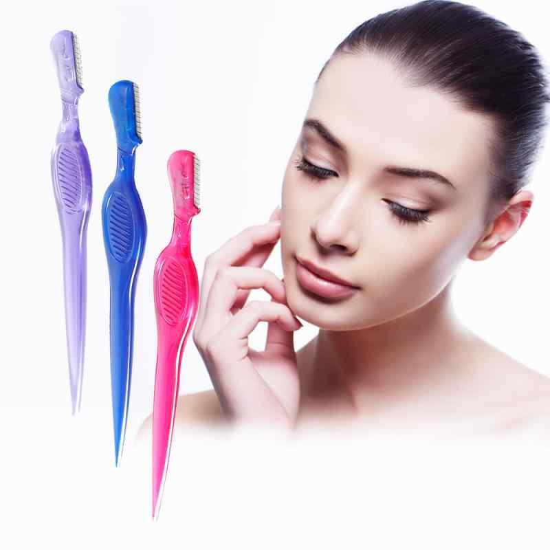 Sobrancelha trimmer rosto cabelo navalha mulheres sobrancelha shaver depilação ferramenta de maquiagem sobrancelha shaver maquiagem sobrancelha trimmer barbeador cosméticos