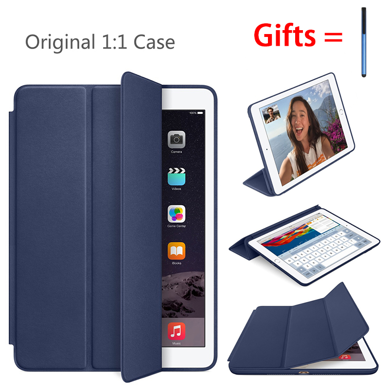 Original Case For IPad Air 2 Air1 9.7 Inch Cover 1:1 Magnet Smart Auto Sleep Stand Flip Leather Cover A1566 A1567 A1474 Shell