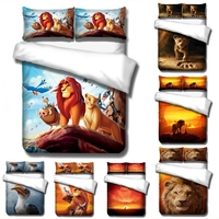 Animals Simba Lion King Comforter Cover Bedding Sets Pillowcases Twin Full Queen King Bedroom Decoration Duvet Cover Set 3pcs