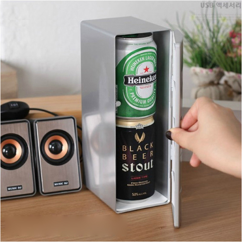 USB Mini Refrigerator Creative Small Refrigerator Mini Pharmaceutical Cosmetics Refrigerator Desktop Small Refrigerator
