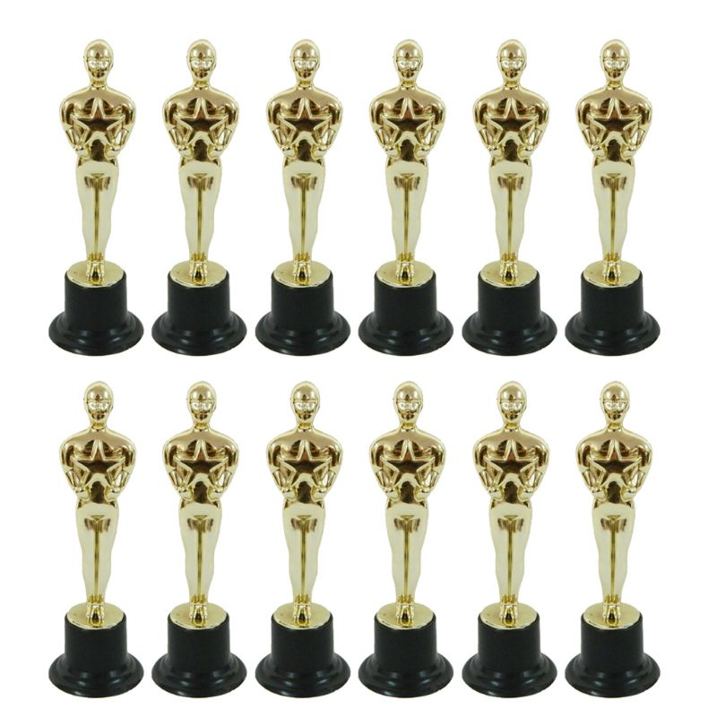 12Pcs Oscar Statuette Mold Reward The Winners Magnificent Trophies In Ceremonies And Festivitie Cake Decoration Tools