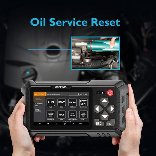 OBDPROG M500 OBD2 Scanner Odometer Correction Professional Mileage Adjustment OBD 2 Odometer Change Engine Diagnostic Oil Reset|Air Bag Scan Tools & Simulators|   -