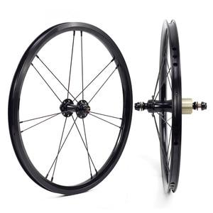 Image 2 - SILVEROCK, внешнее 7 скоростное колесо из сплава, 16 дюймов, 1 3/8 дюйма, 349 дюйма, ободной тормоз, 14/21H, 16H, 20H для Бромптона, 3, 60, складной велосипед, колесная пара на заказ