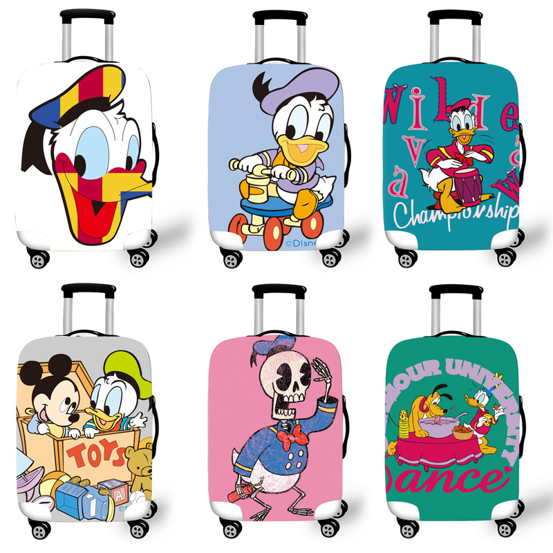 Elastic Luggage Protective Cover Case For Suitcase Protective Cover Trolley Cases Covers 3D Travel Accessories Duck Pattern T020