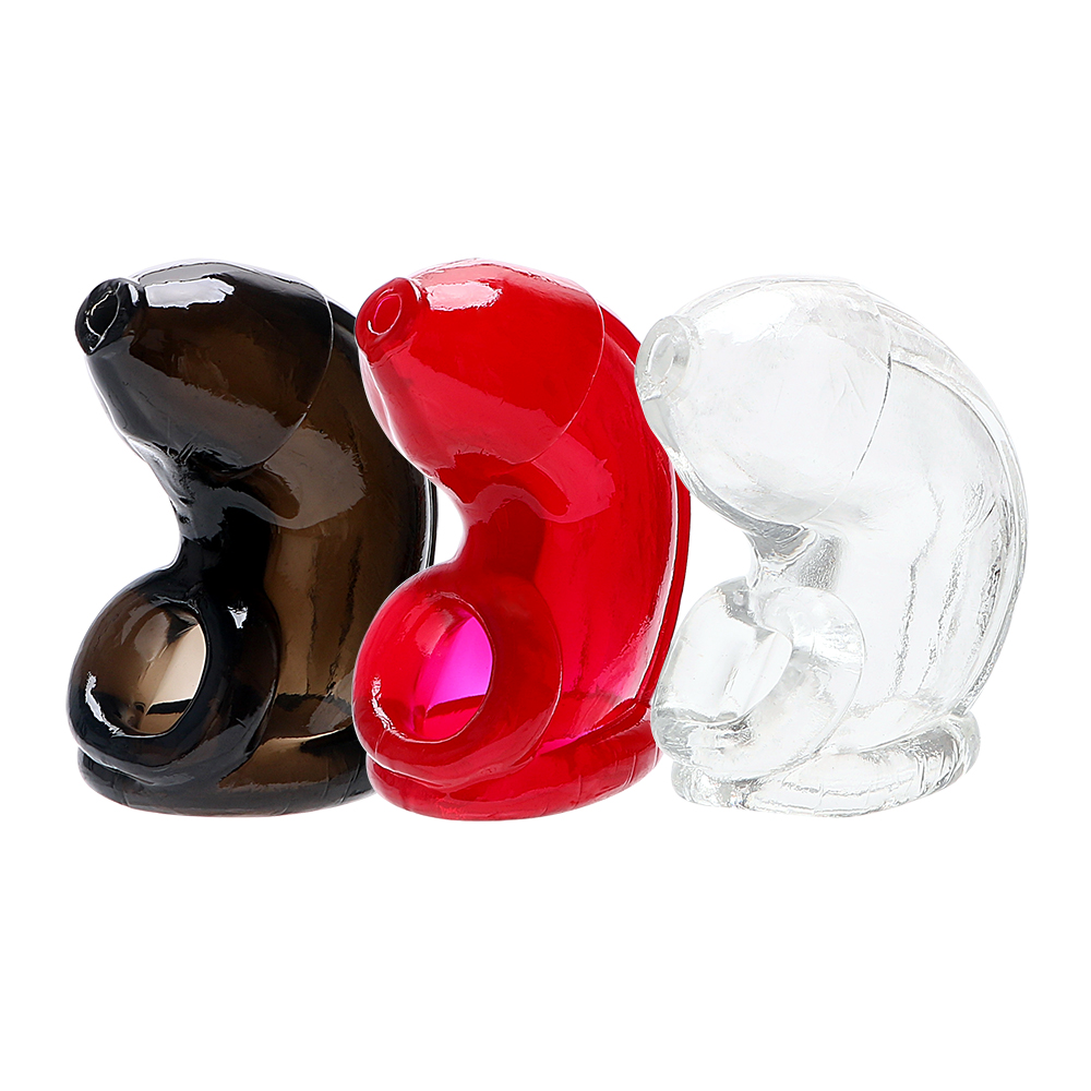 IKOKY Penis Extension Penis Sleeves Cock Cage Sex Toys For Men Chastity Reusable Condom Penis Ring Male Chastity Device