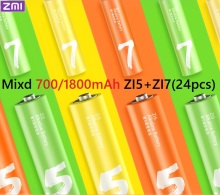 Original ZMI ZI7 ZI5 AAA AA 700mAh 1800mAh 1.2V Ni-MH Battery Power Bank