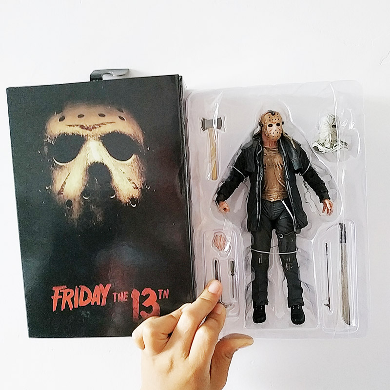 NECA Deluxe Edition Friday The 13th Action Figure Ultimate Jason 2009 Remake Voorhees Toy  Figure Toy Horror Halloween Gift