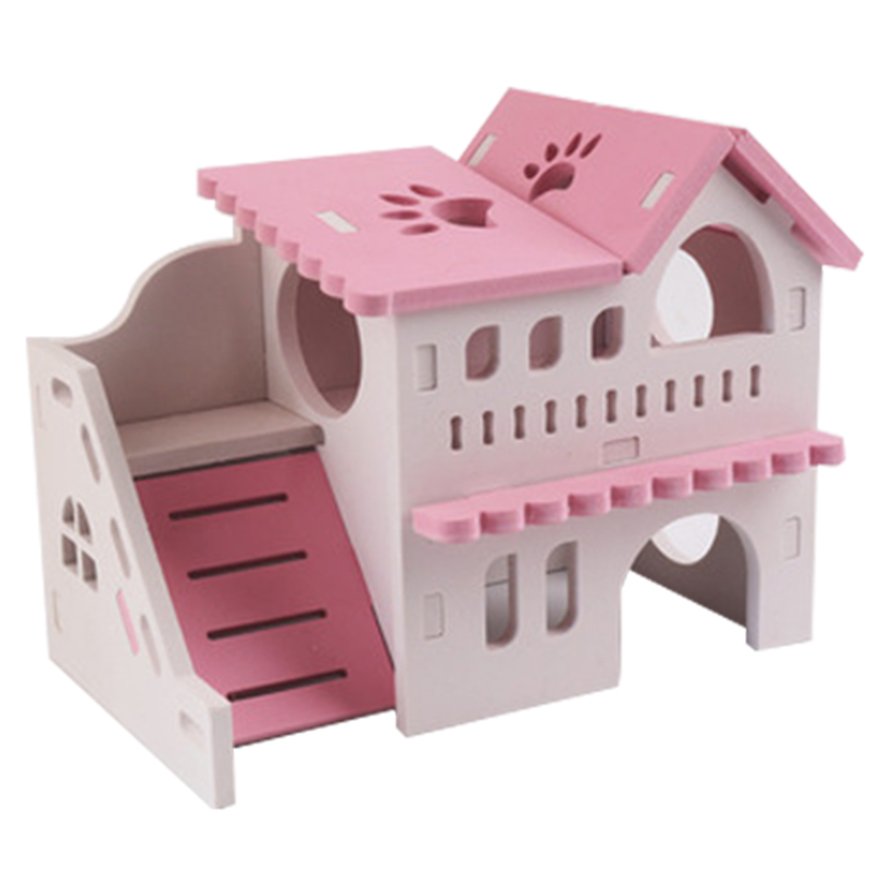 Wooden Hamster Nest Sleeping House Home Luxury Cage Pet DIY Hideout Hut Toy Small Animal Supplies Hamster Hideout