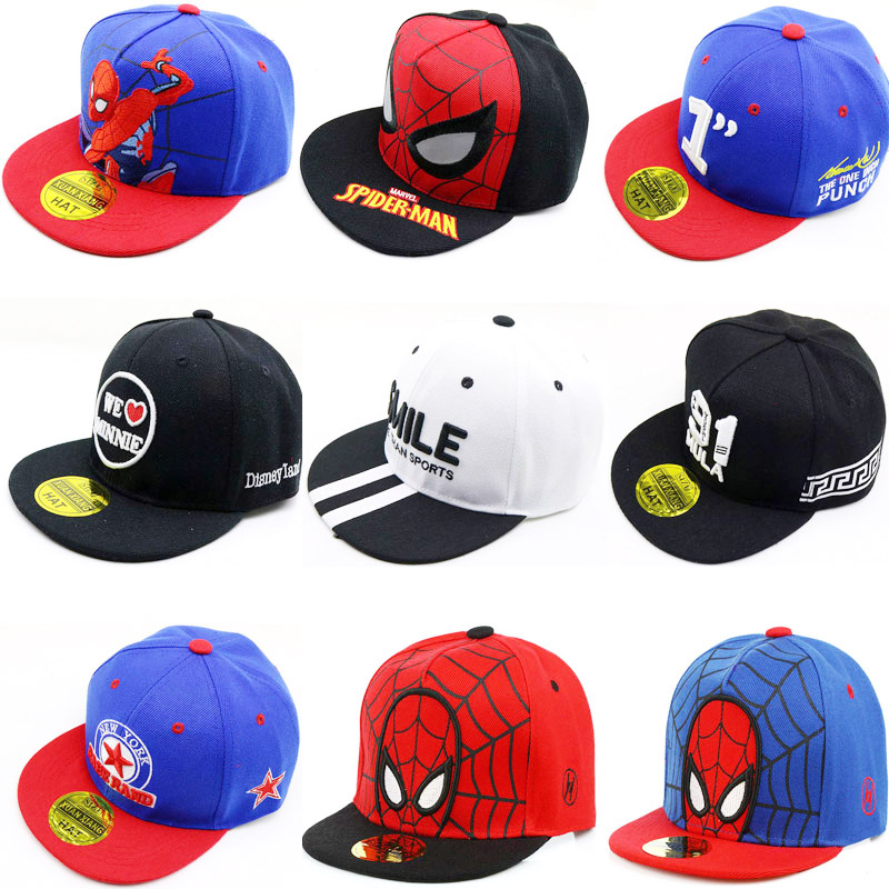 Doitbest Child Cartoon Summer Baseball Cap 2 To 8 Years Numbers Spider-man Spring Kids Sun Hat Boys Girls Caps Snapback Gorras