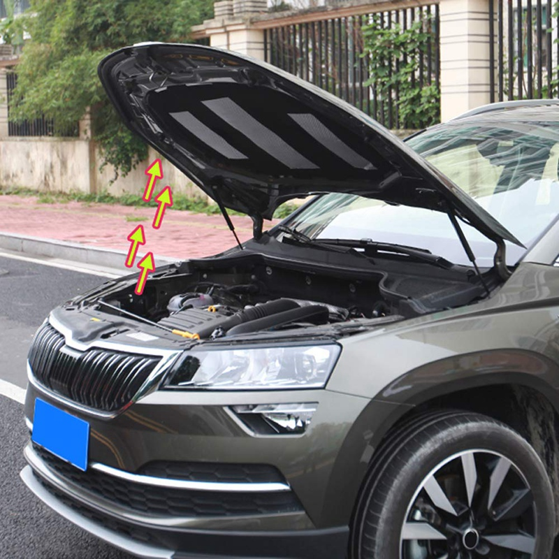 2 unids/set coche colocar frente capucha capó levantar Hood de la cubierta del motor resorte de puntal de barra hidráulica Shock Bar para Skoda Karoq 2017 de 2018 a 2019