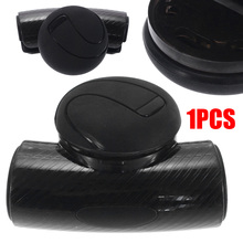 1PC Black Car Steering Wheel Spinner Knob Auxiliary Booster Aid Control Handle Grip Anti-slip Silicone Ball steering wheel aid spinner knob checker patterned