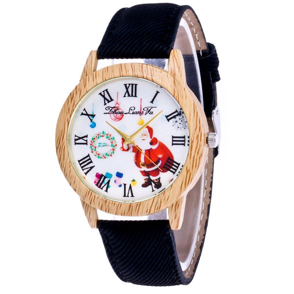 Watch  Men Watch Quartz Strap Top Brand Lady's Wooden Side Cowboy Belt Lady Watch Christmas Gift Clock Clearance