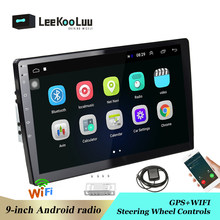 "LeeKooLuu 9,0 ""reproductor Multimedia Android navegación GPS Autoradio 2 din coche Radio Bluetooth WIFI Mirrorlink FM coche estéreo de Audio(China)"