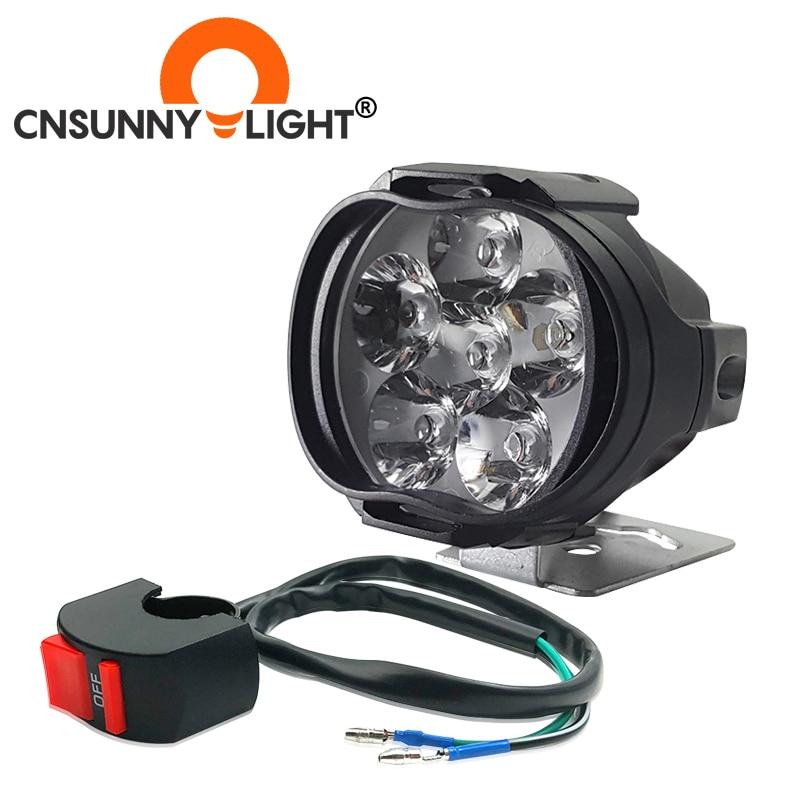 CNSUNNYLIGHT Car LED Work Headlight 8W 1000Lm Motorcycle Bike Fog DRL Spot Light Spotlight DIY Scooter White External Headlamp