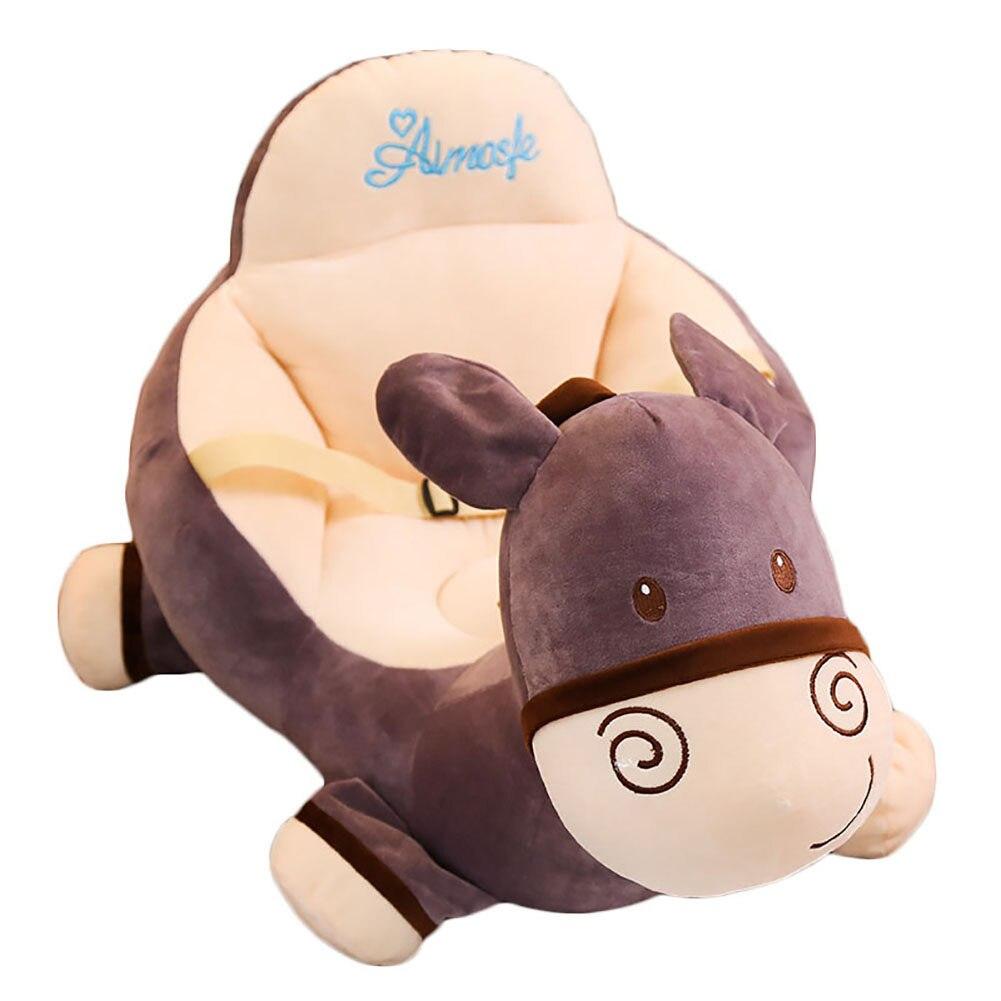 Johnear Kids Sofa Backrest Chair Cute Cartoon Animal Bean Bag Armchair Children's Sofa Support Seat For Playroom Bedroom