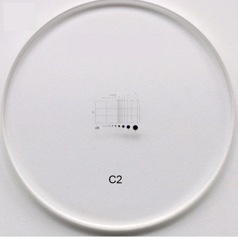 C1-C7 0,01 MM Vetrini per microscopio Calibrazione del reticolo - Strumenti di misura - Fotografia 4
