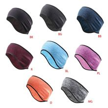 Unisex Winter Ear Warmer Cover Headband Faux Fleece Lined Cold Weather Earmuffs Hairband Cycling Sports Therml Turban
