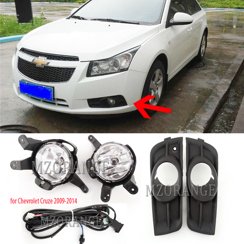 Fog Lights For Chevrolet Cruze Led Fog Light 2009-2014 Fog Lamps DRL Headlights Foglights Covers Frame Grille Wiring Harness Kit