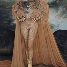 NEW Sexy queen Lion king costume Women female stage dance