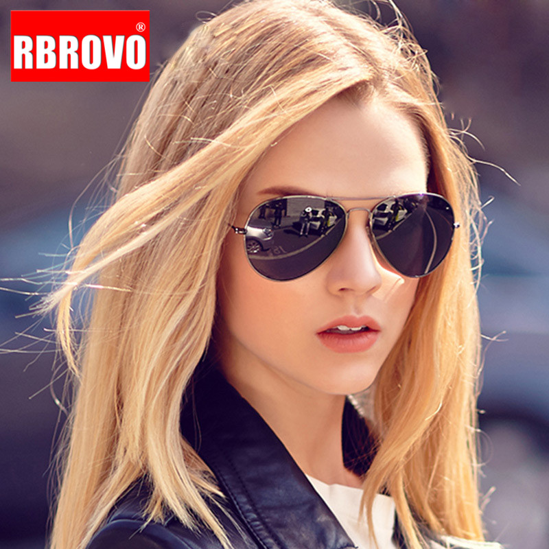 RBROVO 2018 Pilot Sunglasses Women/Men Top Brand Designer Luxury Sun Glasses For Women Retro Outdoor Driving Oculos De Sol