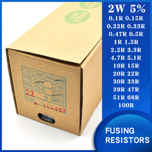Wound Fuse Resistance2W 5% 0.1Ohm0.22/0.47/0.5/1/2.2/4.7/5.1/10/15/20/22Ohm30/33/39/68/100OhmFusing Resistors Winding resistance