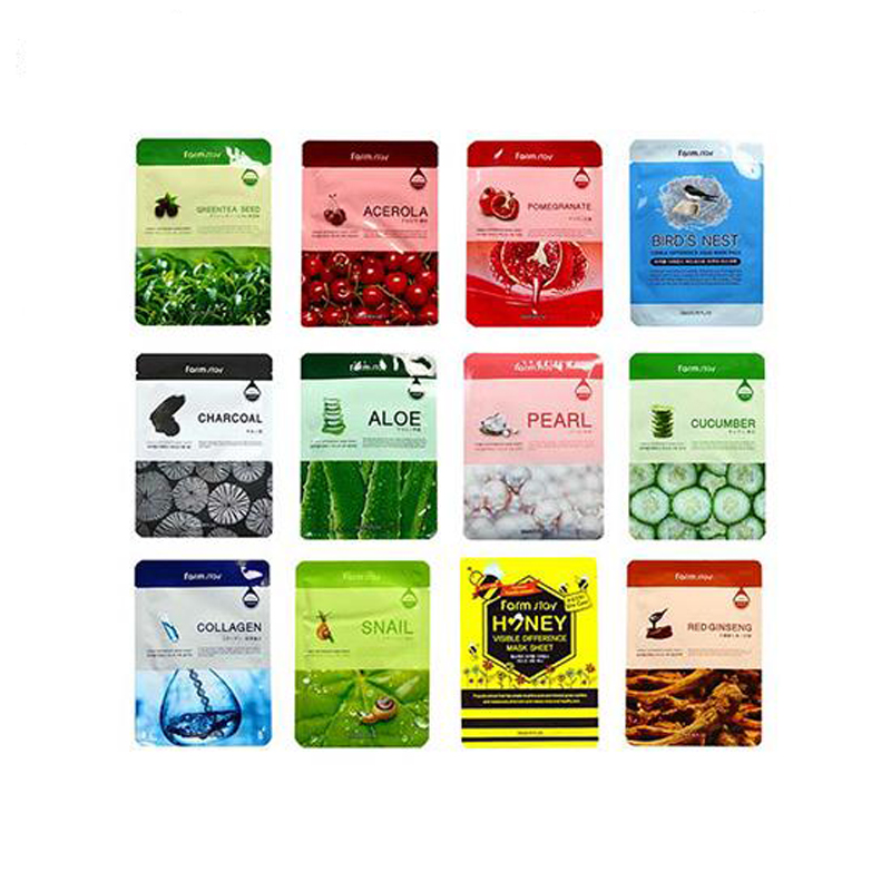 FARM STAY Visible Difference Mask Sheet Snail Face Mask Hydrating Collagen Anti Wrinkle Whitening Facial Mask Korea Cosmetics