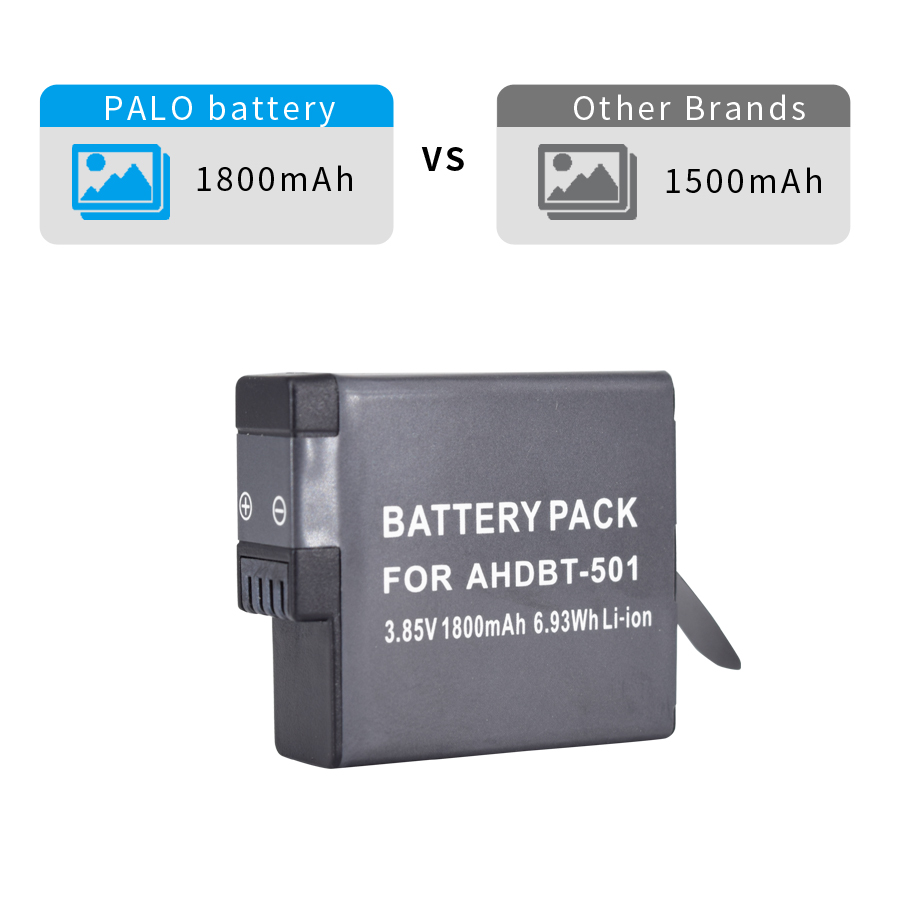PALO-1pcs-AHDBT-501-1800mah-LI-ION-digital-Camera-Battery-for-GoPro-Hero-5-Hero-6