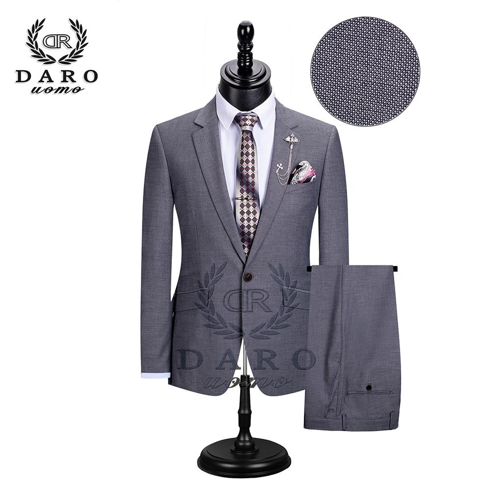 Luxury Men Wedding Suit Male Blazers Slim Fit Suits For Men Costume Business Formal Party Blue Classic DR8195
