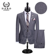 Luxury Men Wedding Suit Male Blazers Slim Fit Suits For Men Costume Business Formal Party Blue Classic DR8195(China)