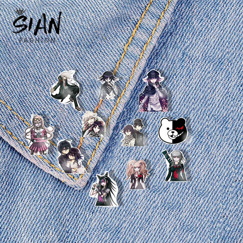 Sian Game Anime Danganronpa Broches Pins Acryl Art Foto Cartoons Revers Pin Broche Hars Badge Voor Kleding Decoratie Sieraden