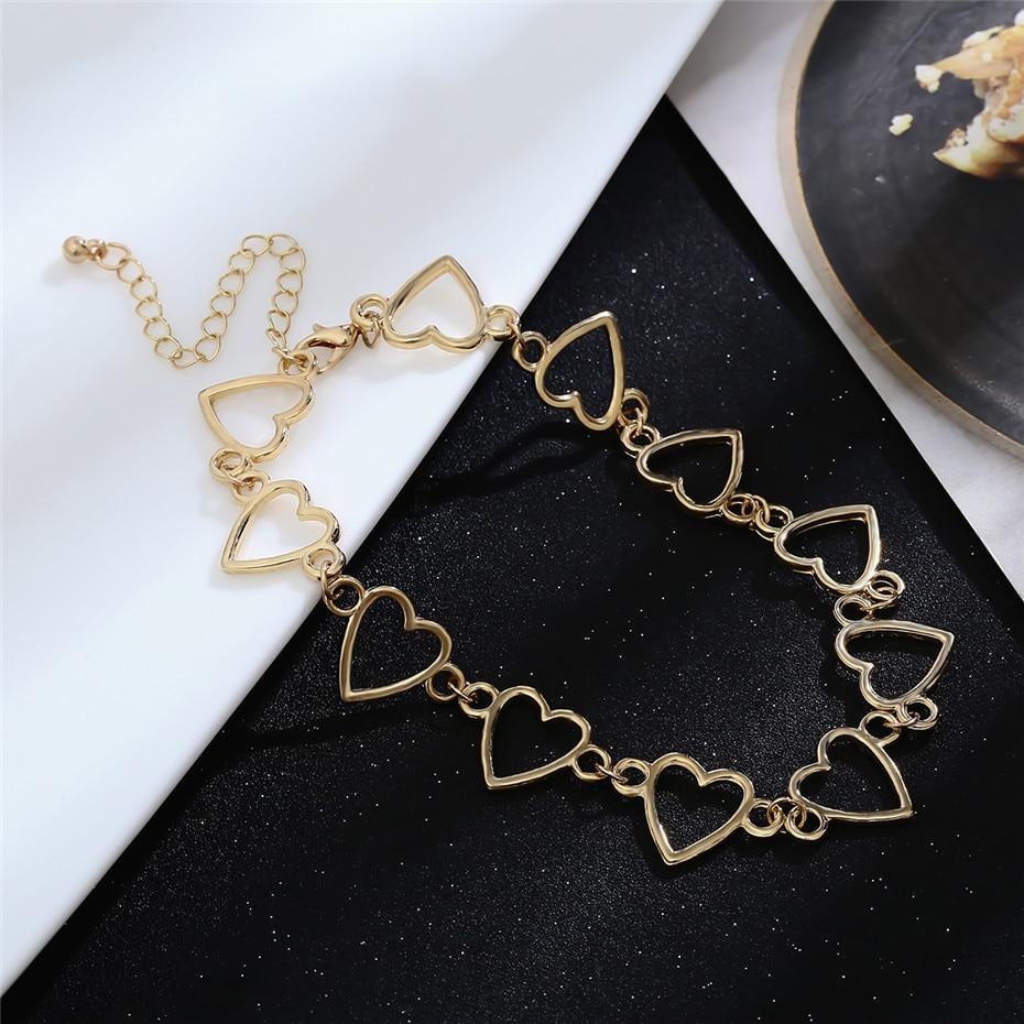 Ingemark Korean Sweet Love Heart Choker Necklace Statement Girlfriend Gift Cute Gold Silver Necklace Jewelry Collier Femme 18 13