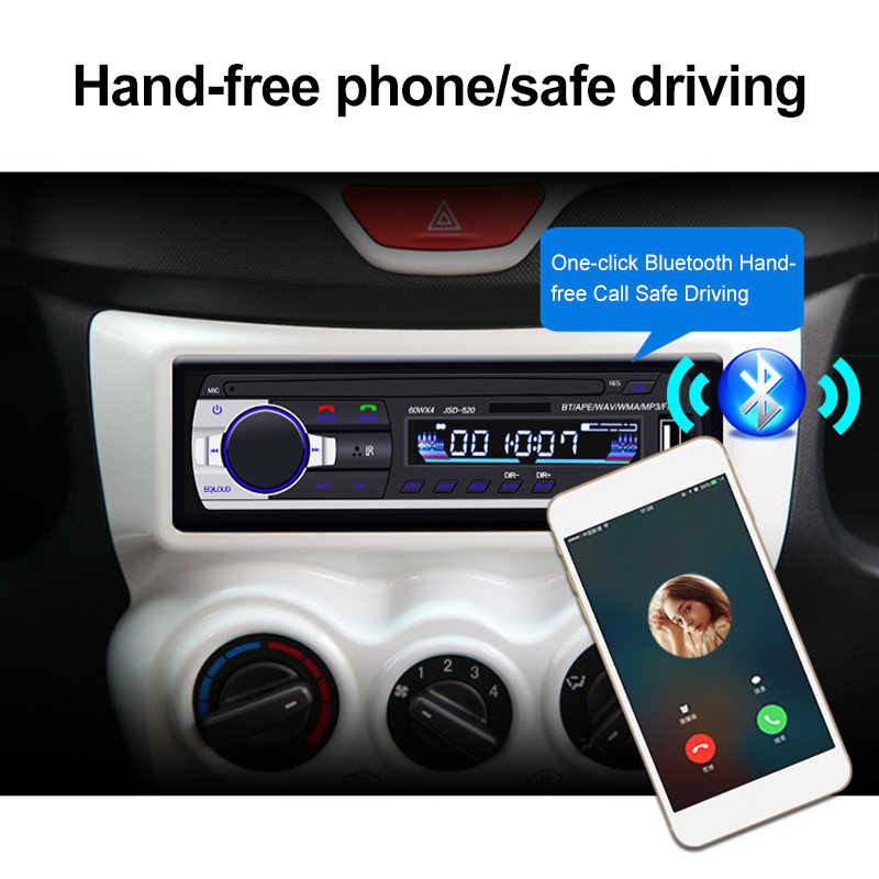 12V In-dash 1 Din Auto Multimedia Player Auto Stereo Radio FM Eingang Empfänger USB Bluetooth Autoradio MP3 musik-Player