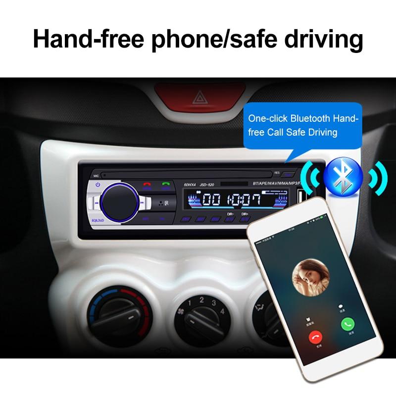 12V In-dash 1 Din Car Multimedia Player Car Stereo Radio FM Aux Input Receiver USB Bluetooth Autoradio MP3 Music Player