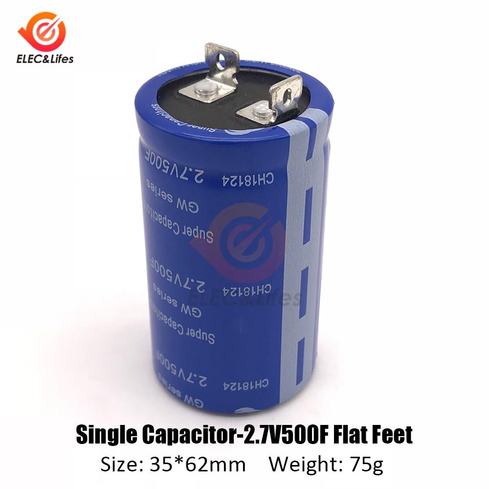 2.7V-500F 2.7V-360F 2.8V-600F 2.85V-700F Super Farad Capacitor Battery For Car Toy Motor Smart Home Power Supply Ultracapacitor