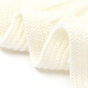 Image 5 - 新生児ボーイズガールズベビー毛布ニット幼児 SwaddleMonthly 子供キルト幼児ベビーカー Cobertor ための無料ダウンロードアイテム Infantil ラップ
