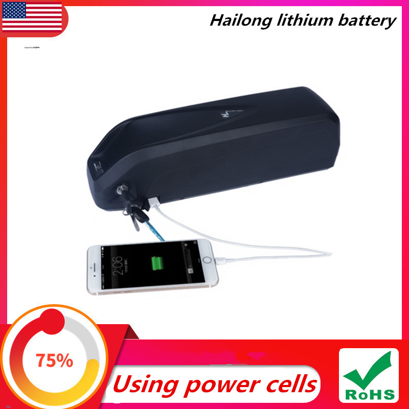 Hailong lithium battery 48V 36V 52V electric bicycle 10Ah 12Ah 15Ah power battery 350W 500W 750W 1000W battery pack title=