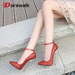 2020 Новое поступление; Женские туфли-лодочки на очень высоком каблуке 16 см; Пикантные вечерние туфли на тонком каблуке-шпильке с острым носко...