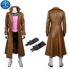 2017 Cosplay Costume Remy LeBeau Roleplay Gambit Men's Jacket Cosplay Custom Made Free Shipping Adult Any Size new fairy tail erza scarlet women cosplay costume any size tailor made free shipping in stock