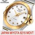 GUANQIN, мужские часы, Топ бренд, роскошные, автоматический бренд, сапфир, Япония, Miyota, 8215, золотые, механические часы, водонепроницаемые, Relogio ...
