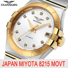 GUANQIN Men watch top brand luxury Automatic brand Sapphire Japan Miyota 8215 go