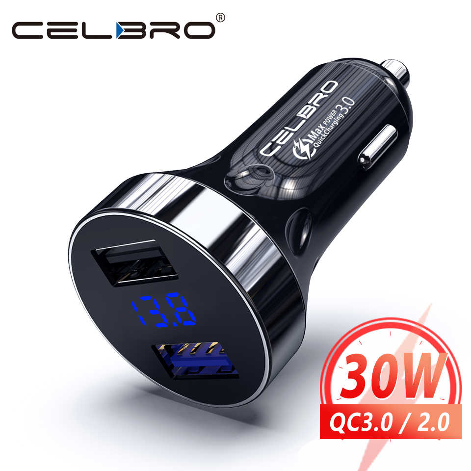 Quick Charge 3.0 Autolader Usb Auto Telefoon Oplader Fast Charger Auto Charge Opladen Voor Iphone Samsung S20 Xiaomi Mobiele telefoon