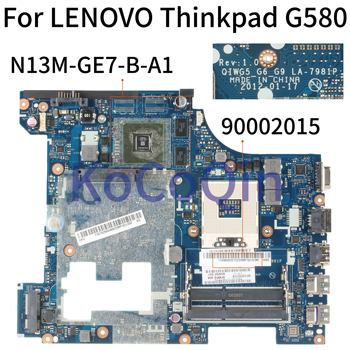 KoCoQin Laptop motherboard For LENOVO Thinkpad G580 GT610M SLJ8E 15' Inch Mainboard QIWG5 G6 G9 LA-7981P 90002015 N13M-GE7-B-A1