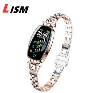 Image 1 - Lism H8 ساعة ذكية النساء 2019 مقاوم للماء رصد معدل ضربات القلب بلوتوث ل أندرويد سوار لياقة بدنية Smartwatch