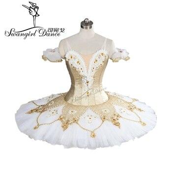цена на 2017New Arrival!high quality white gold ballet tutu professional tutu pancake tutu classical ballet tutu ballerina tutuBT9099