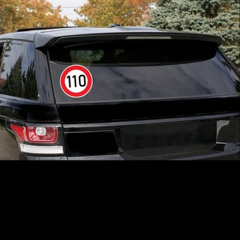 S4-0078# Speed Limit (110 km), Ø 16 cm Self-adhesive Decal Car Sticker Waterproof Auto Decors image
