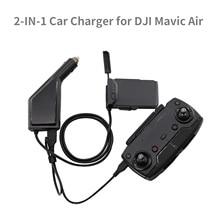 Controle Remoto Mavic Ar Carregador de Carro Carregador de Bateria com Porta USB 2in1 para MAVIC DJI Zangão AR Acessório Do Carro USB carregador