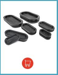 1 шт резиновые колпачки для отверстий в проволоке заглушки черное