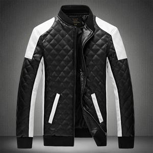 Image 4 - 2020 Mens מעילי עור מזדמן באיכות גבוהה קלאסי אופנוע אופני מעיל גברים בתוספת עבה מעילי האביב/סתיו chaqueta hombre